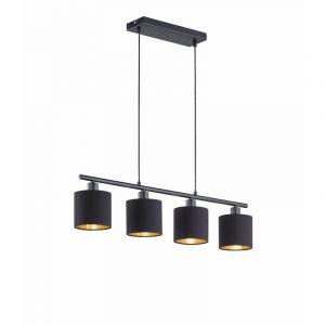 Mat Zwarte hanglamp Anteros, Modern