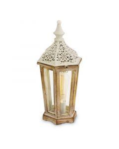 Abdinasir tafellamp - Patina Wit