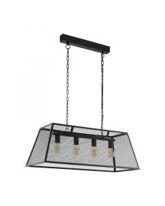 Moderne hanglamp James Staal Zwart