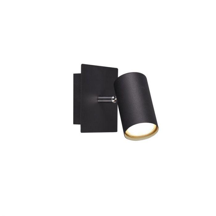 Mat Zwarte wandlamp Kaso, Modern