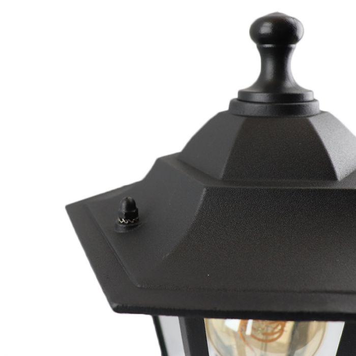 Ani buitenlamp gegoten aluminium zwart