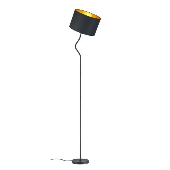 Mat Zwarte vloerlamp Ramme, Modern