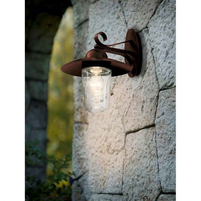 Dalisha buitenlamp gegalvaniseerd staal antiek-bruin