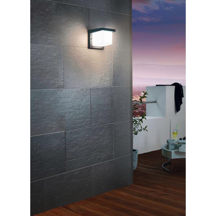 Moderne Antraciet Witte wandlamp Marcela