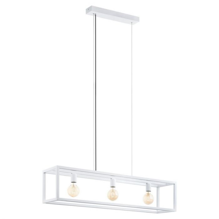 Moderne hanglamp Jaxx Staal Wit