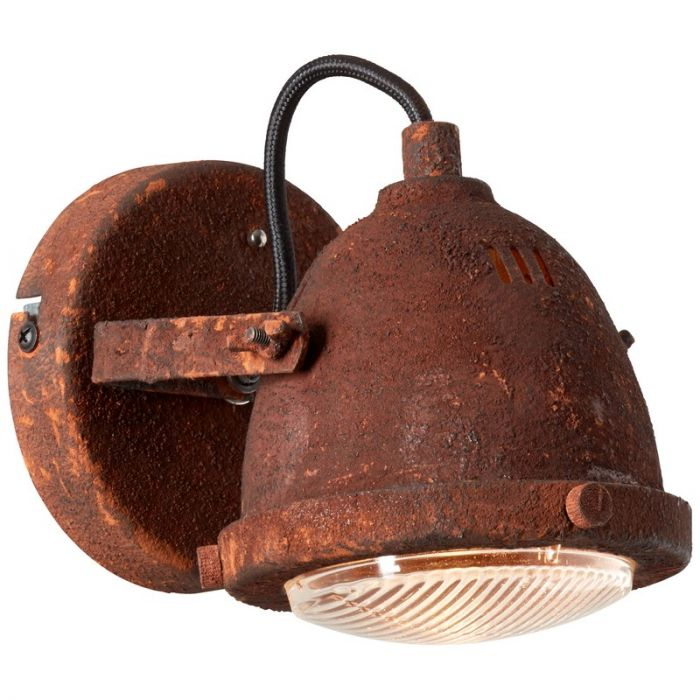 Industriële wandlamp Liza, Roest