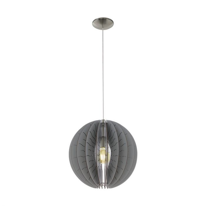 Stalen hanglamp Daron nikkel