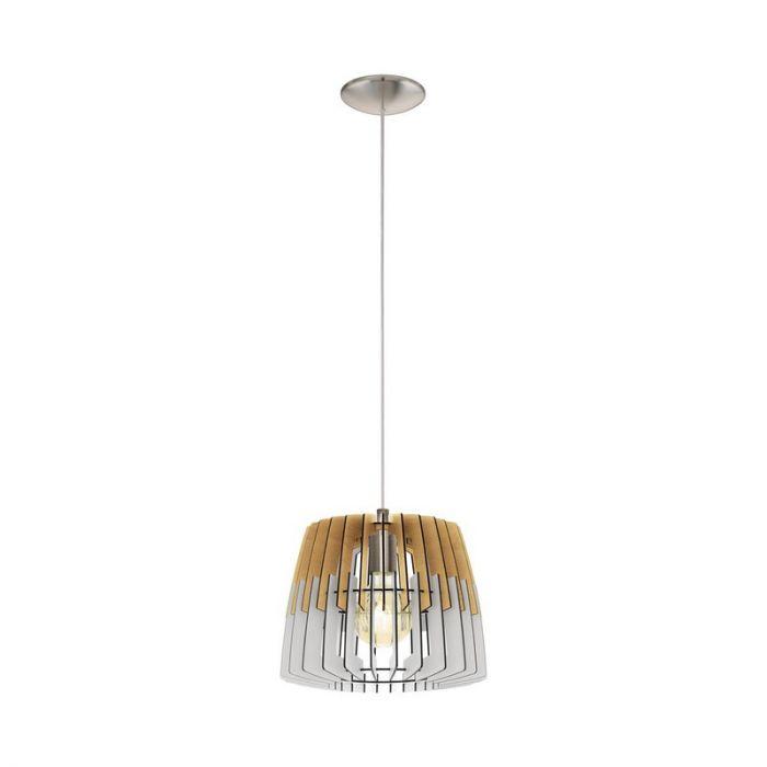 Stalen hanglamp Alberto nikkel
