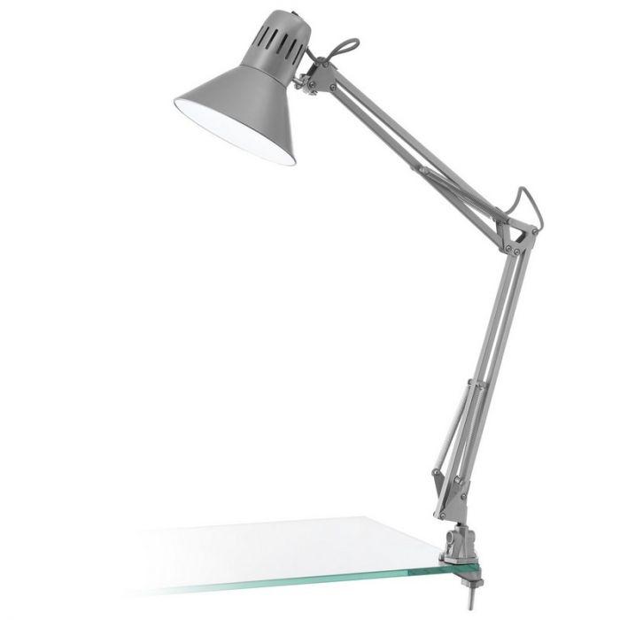 Stalen tafellamp Jordin zilver