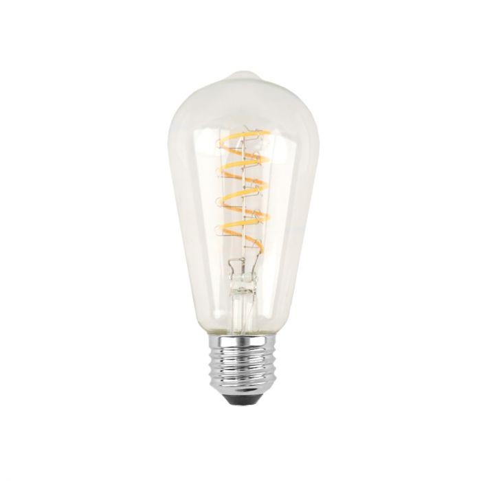 Dimbare Tekalux Deco E27 Edison LED lamp, 2700k, 6w