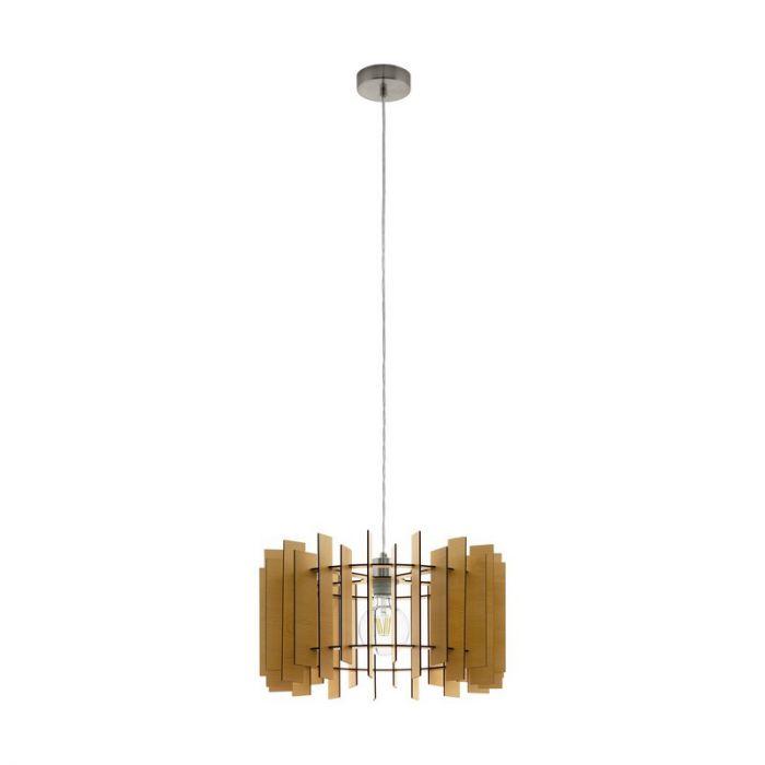 Stalen hanglamp Meryl nikkel