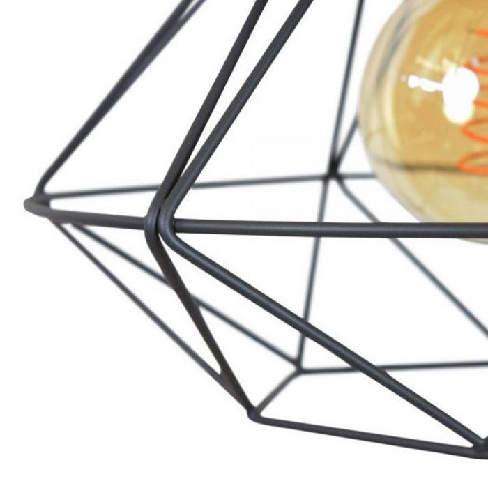 Industrie plafondlamp Merlon, Extra breed