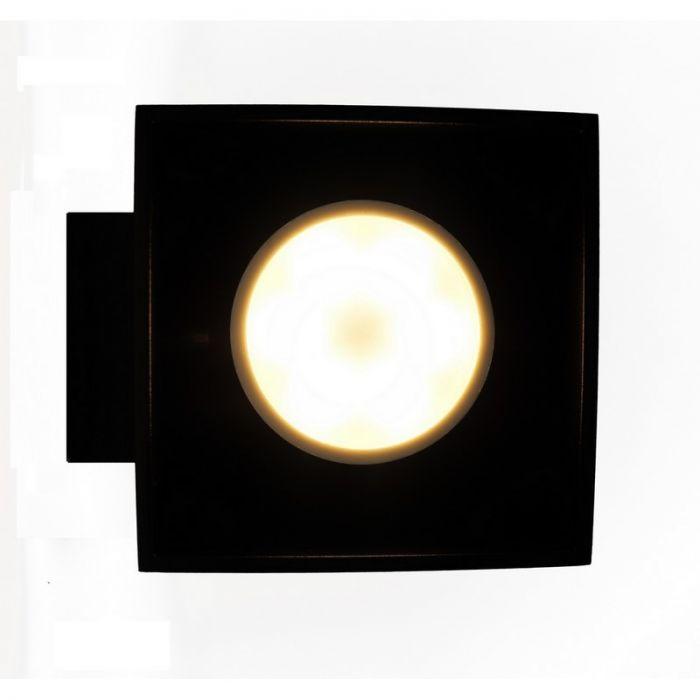 Zwarte wandlamp Friso, zwart