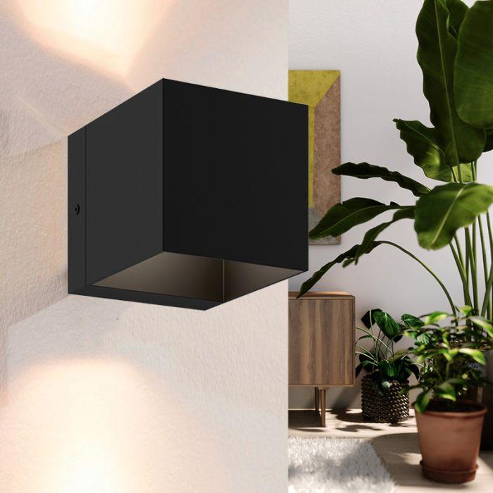 Moderne Wandlamp Trige, Zwart