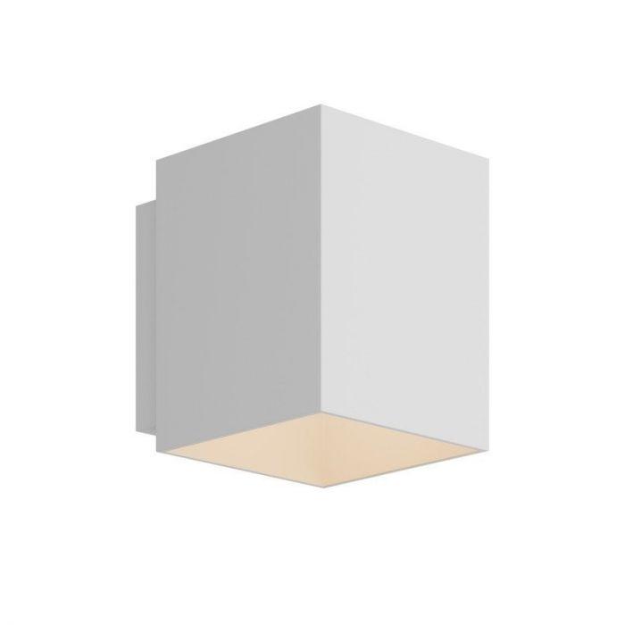 Witte wandlamp Dalila - Kubus, modern