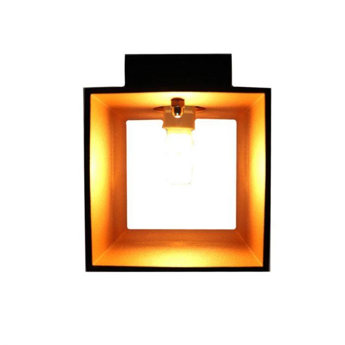 Zwarte wandlamp Dalila - Kubus, modern