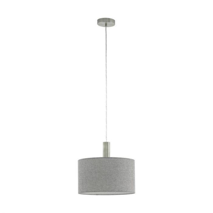 Stalen hanglamp Mieke nikkel