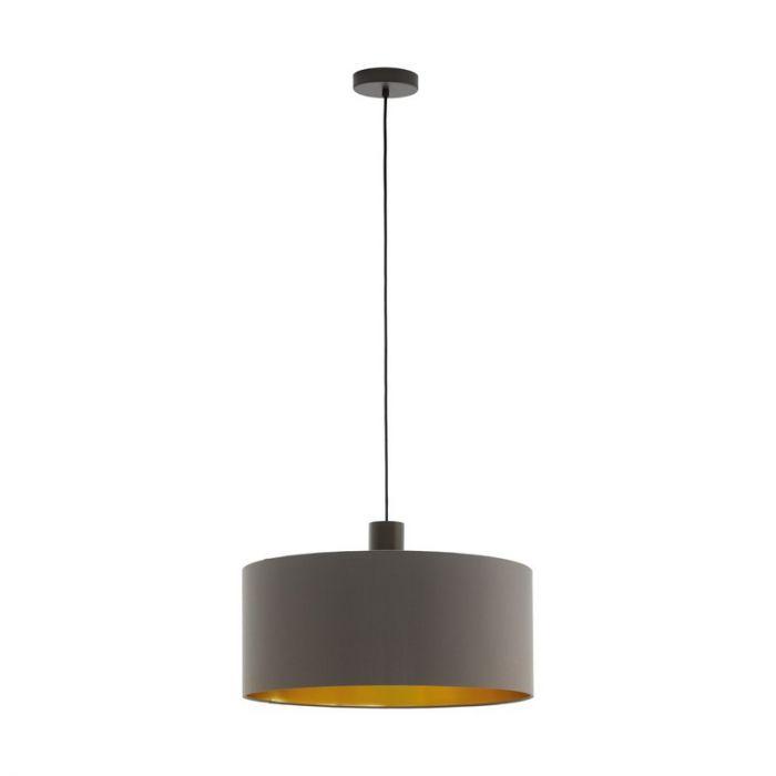 Stalen hanglamp Mies bruin