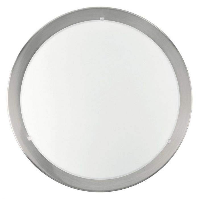 Calpe plafondlamp small rand geborsteld staal