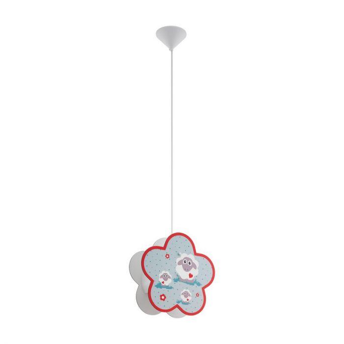 Kunststof hanglamp Pieke wit