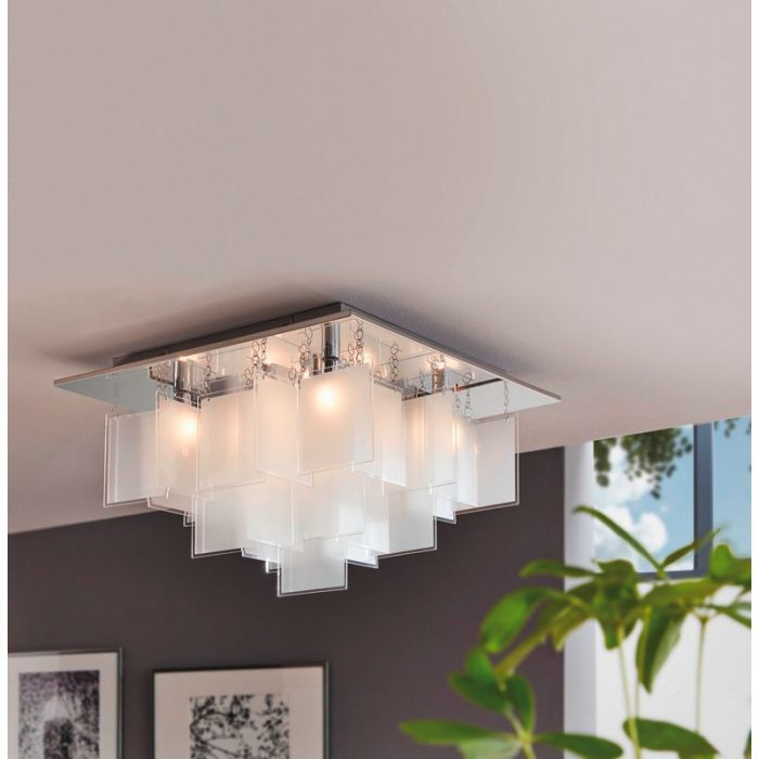 Sil II plafondlamp uniek design vierkant
