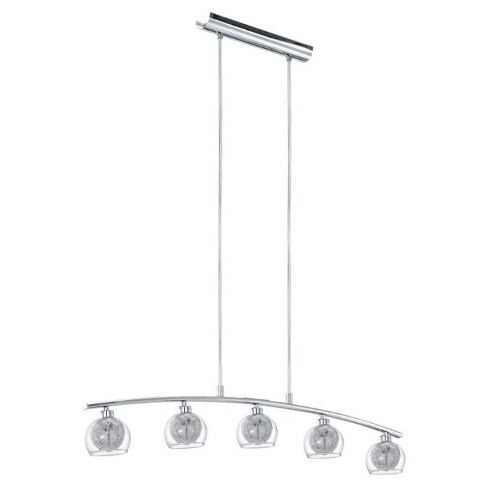 Duncan hanglamp vijf lampjes sfeervolle kapjes