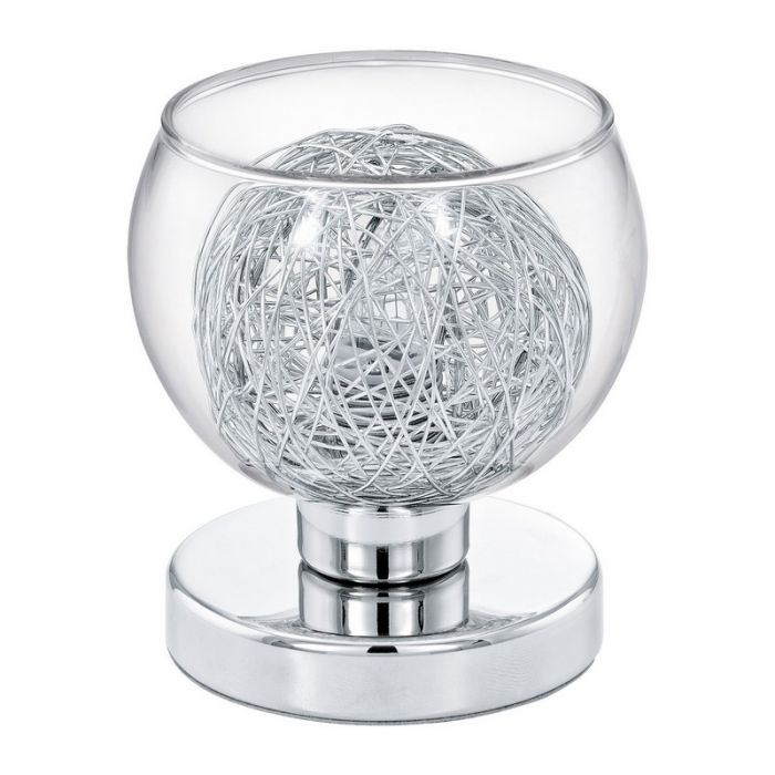 Louis design tafellamp aluminium en glas