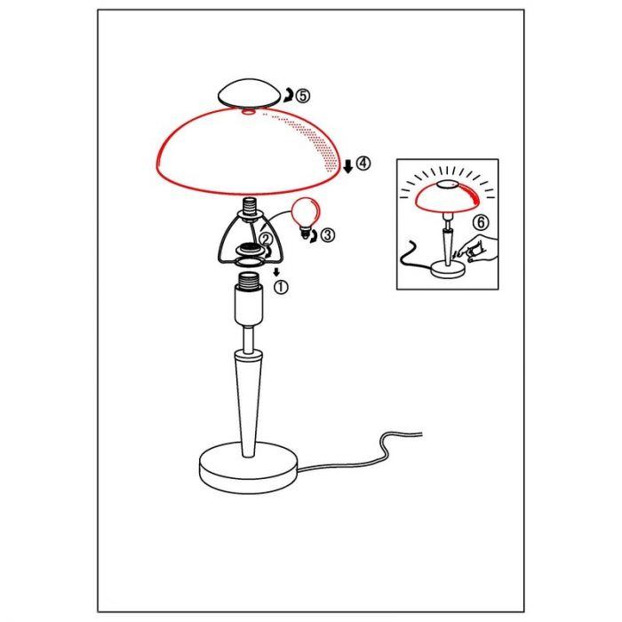 Adi tafellamp klassiek mat nikkel