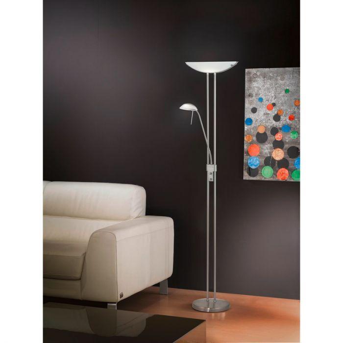 Brava vloerlamp stijlvolle glaskap