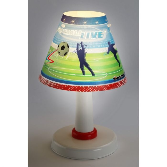 Voetbal tafellamp jongens - Rood Groen Blauw