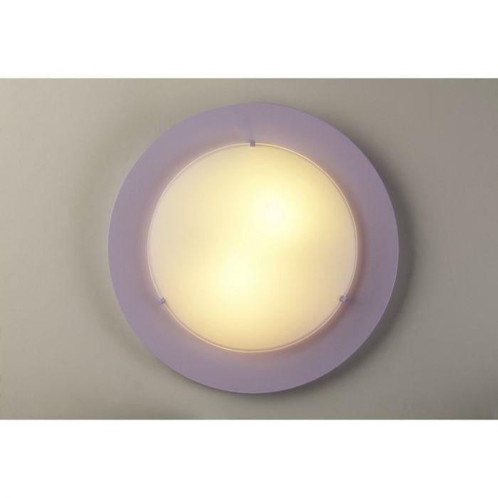 Paarse plafondlamp kinderkamer