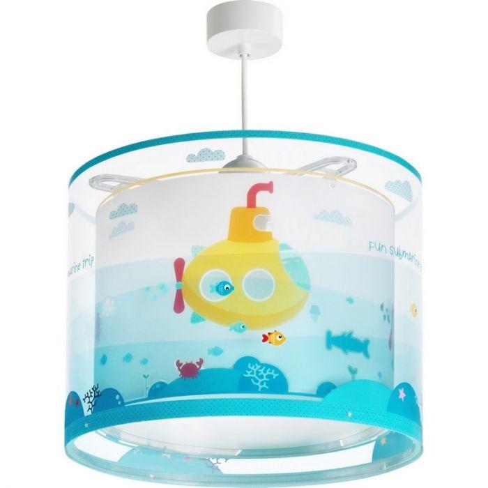 Waterleven hanglamp - Blauw