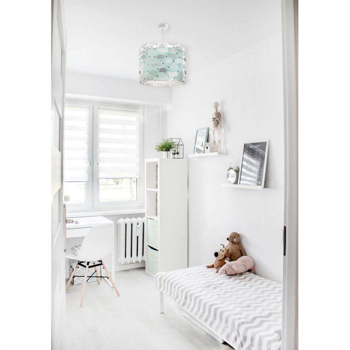 Babykamer hanglamp wolkjes - Groen