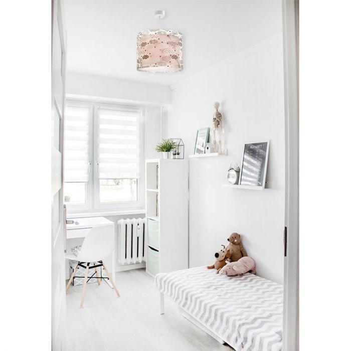 Roze babykamer hanglamp meisjes - Wolkjes