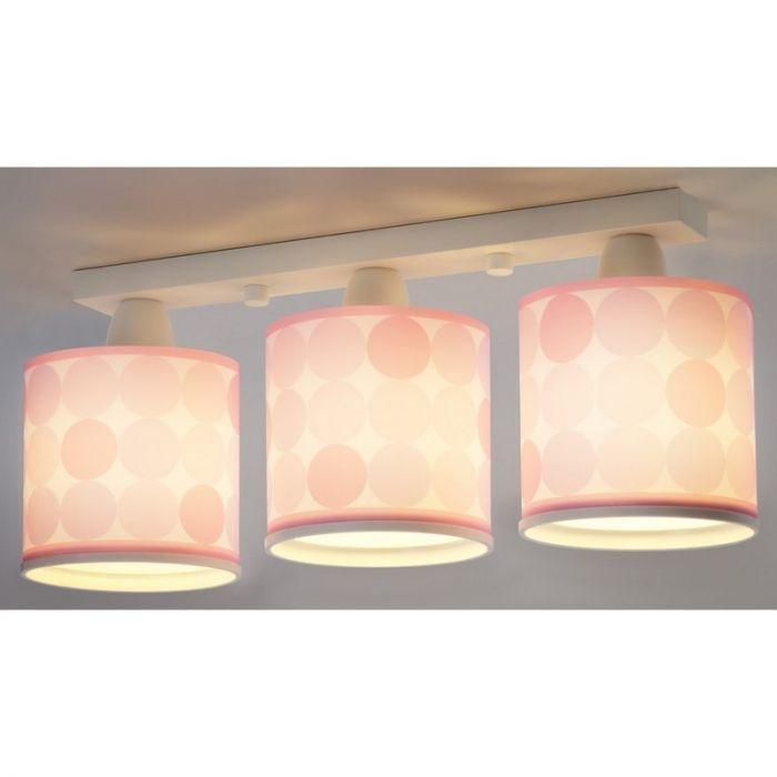 Meisjeskamer plafondlamp Rondjes - Roze