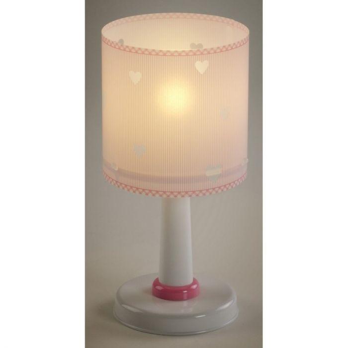 Hartjes tafellamp Roze - Meisjeskamer