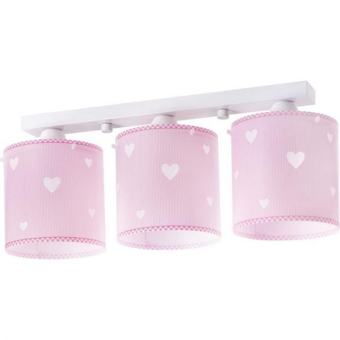 Hartjes plafondlamp Roze - Meisjeskamer