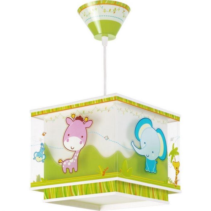 Dierentuin kinderkamer hanglamp - Groen