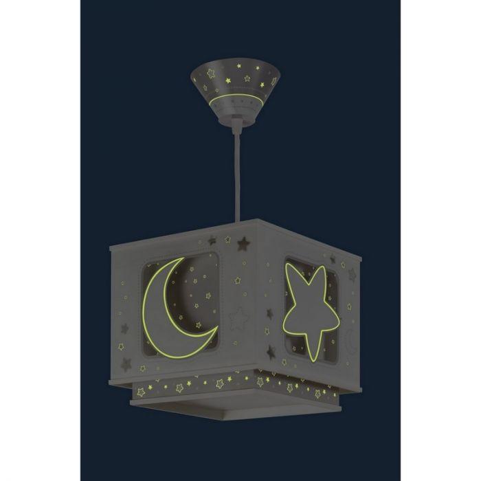 Grijze baby hanglamp Maan en sterren