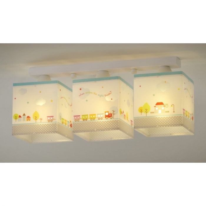 Treintje plafondlamp babykamer