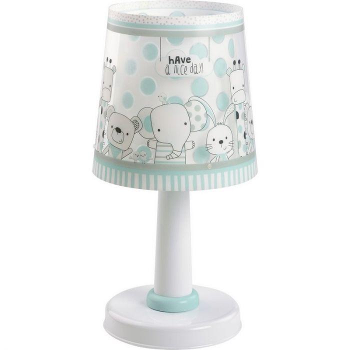 Babykamer tafellamp Beestenbende - Blauwgroen