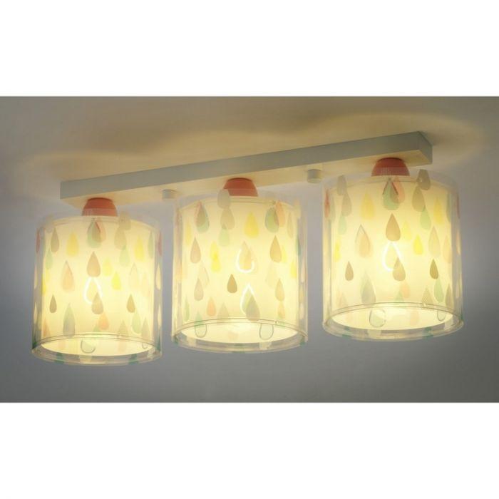 Gekleurde regendruppel plafondlamp kinderkamer