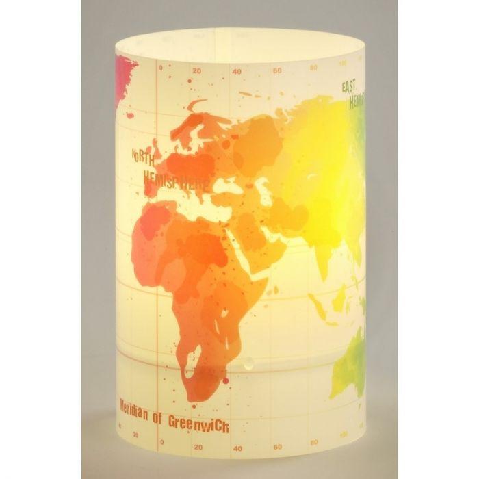 Wereldkaart tafellamp kinderkamer
