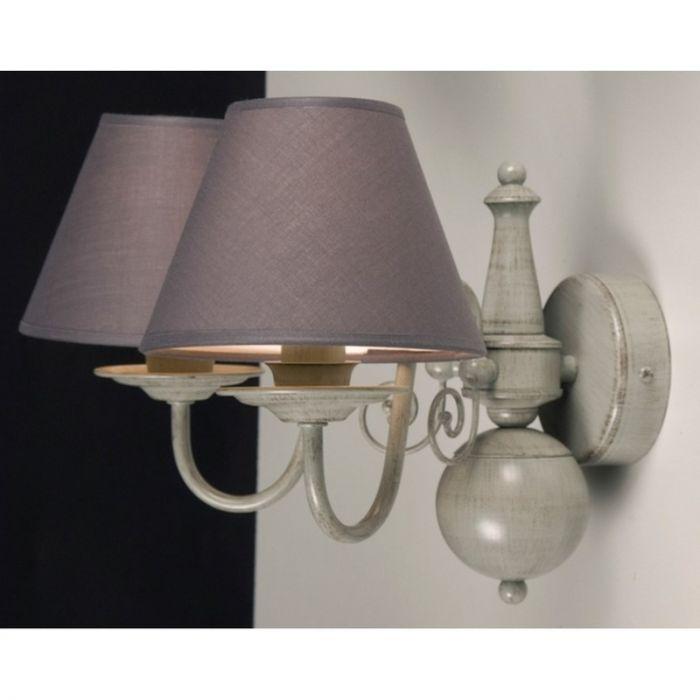 Klassieke Quincy wandlamp groot, grijs