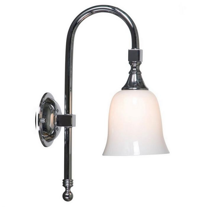 Chroom wandlamp Delicia 05, klassiek