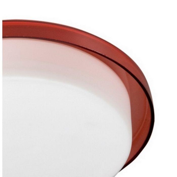 Moderne Bailey II plafondlamp, rood