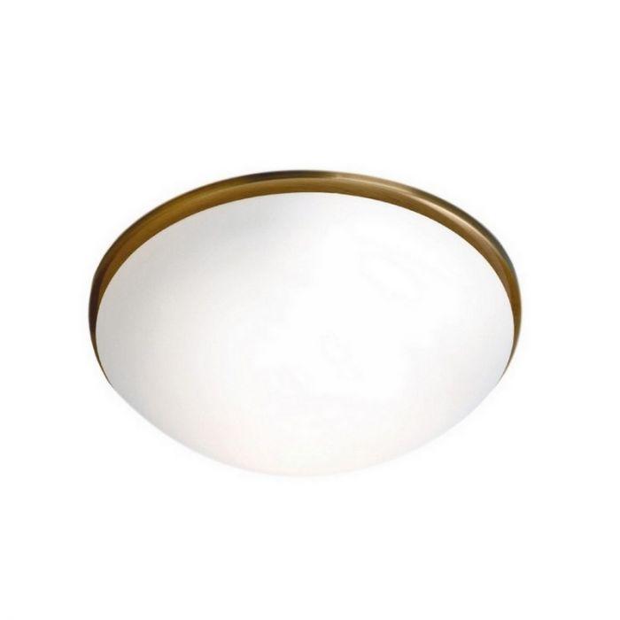 Klassieke Alessandra plafondlamp, brons rand