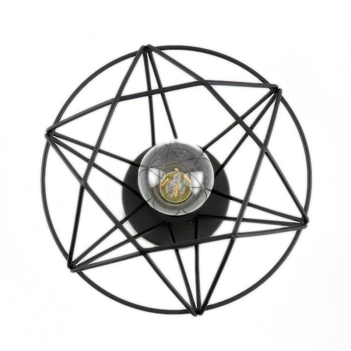 Stoere, industrie plafondlamp Jochem, Gaaslook