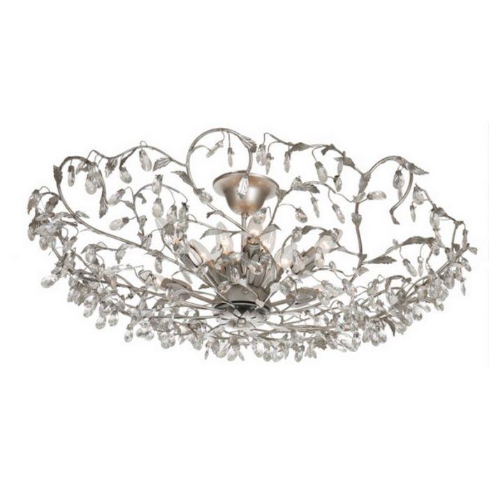 Zilveren Sidney III design plafondlamp, klassiek