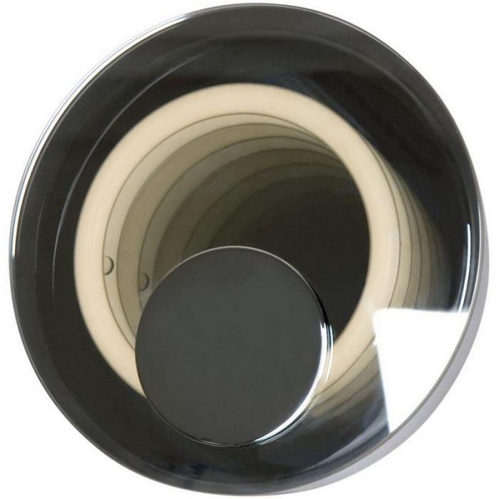Ronde wandlamp Lore modern, glasplaat